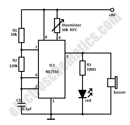 High Temperature Alarm Circuit