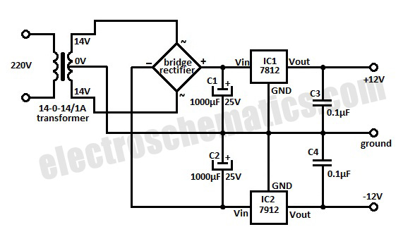 Schematic 7812 Voltage Regulator