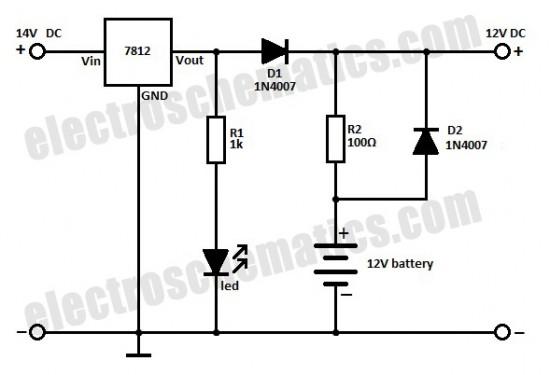 battery backup circuit diagram