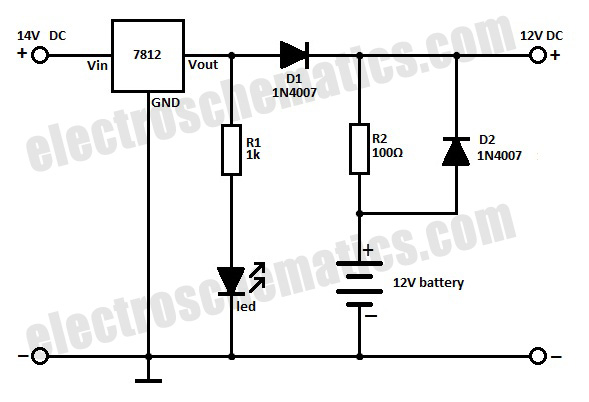 12v battery backup circuit