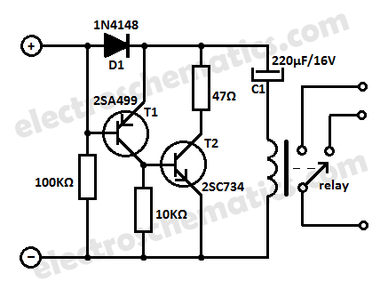 Time Delay Relay Circuit with 555