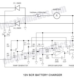 scr 12v battery charger circuit schematic [ 1246 x 700 Pixel ]