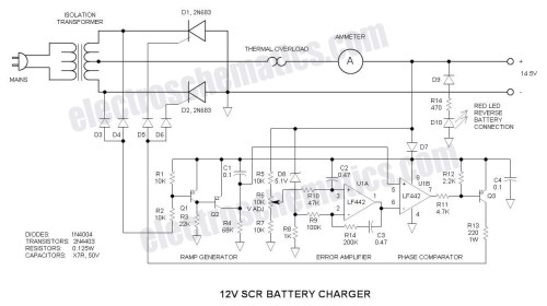 small resolution of scr 12v battery charger circuit schematic