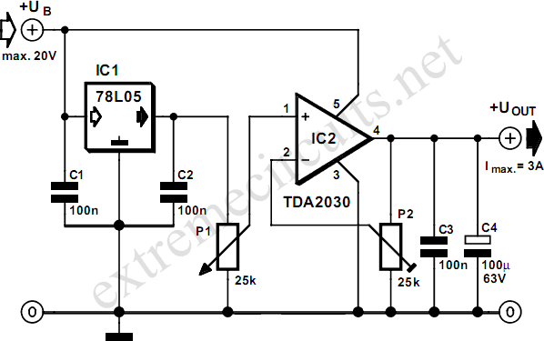 TDA2030 Amplifier Circuits & Projects