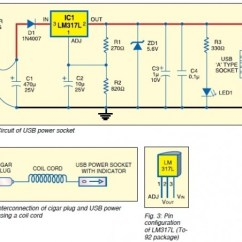Usb Outlet Wiring Diagram Ae86 Dc Power Supply From Cigar Lighter Socket