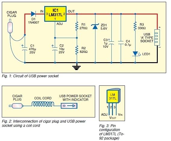 USB DC Power Supply From Cigar Lighter Socket