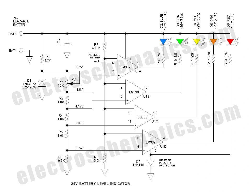 indicator battery level circuit