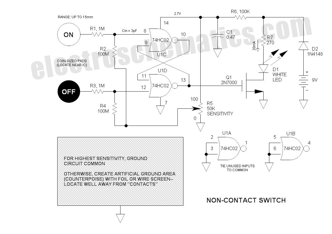 hight resolution of non contact proximity switch circuit schematic