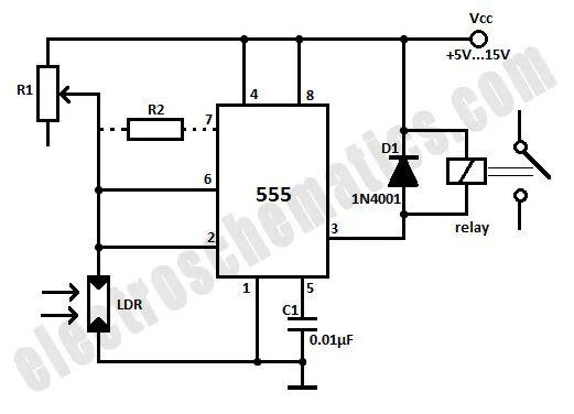 circuit diagram of relay driver