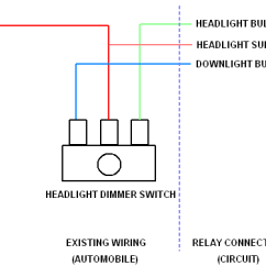 Wiring Diagram For Headlight Dimmer Switch Australian Trailer Plug Adaptive Car Lighting System Proposed Electrical Existing Connection