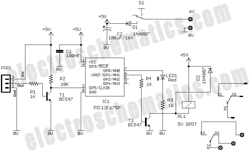 gate alarm circuit diagram tutorial