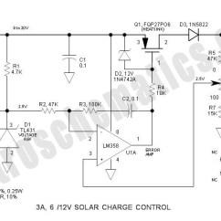 Pwm Solar Charge Controller Circuit Diagram 2001 Dodge Dakota 4 7 Wiring 3a 6v 12v Control Schematic