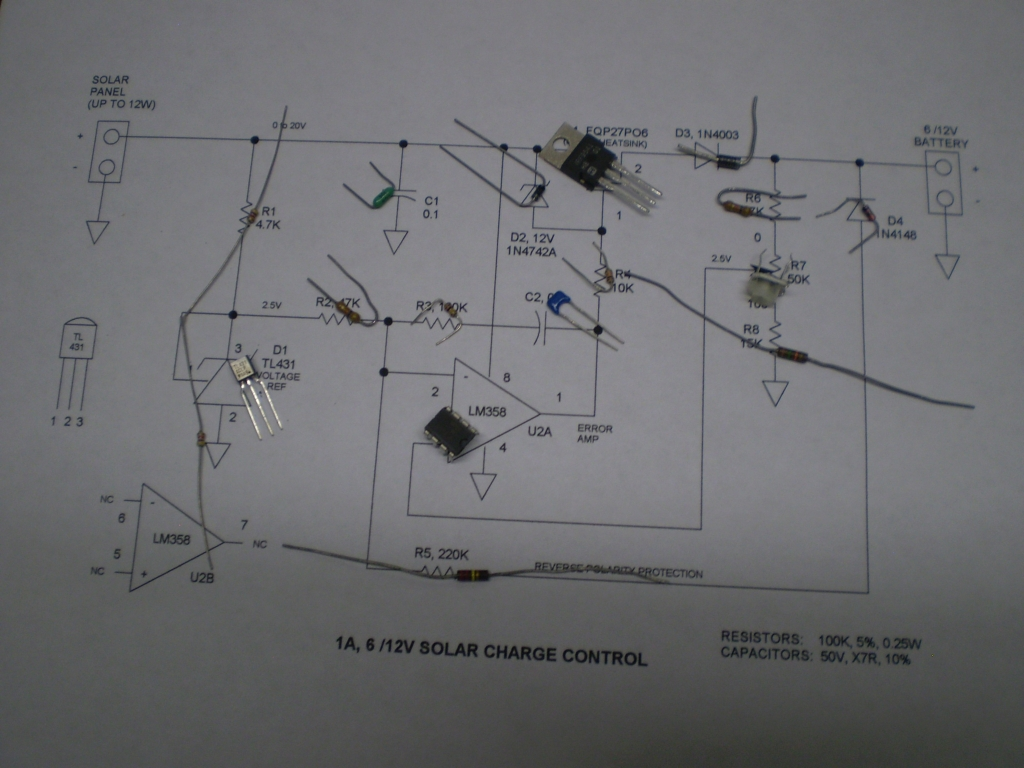 solar charge controller connection diagram 2003 lincoln navigator engine 3a 6v/12v control circuit