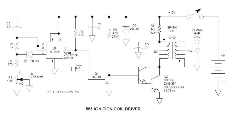 medium resolution of 555 ignition coil driver circuit igniter circuit diagram in addition fm transmitter circuit diagram