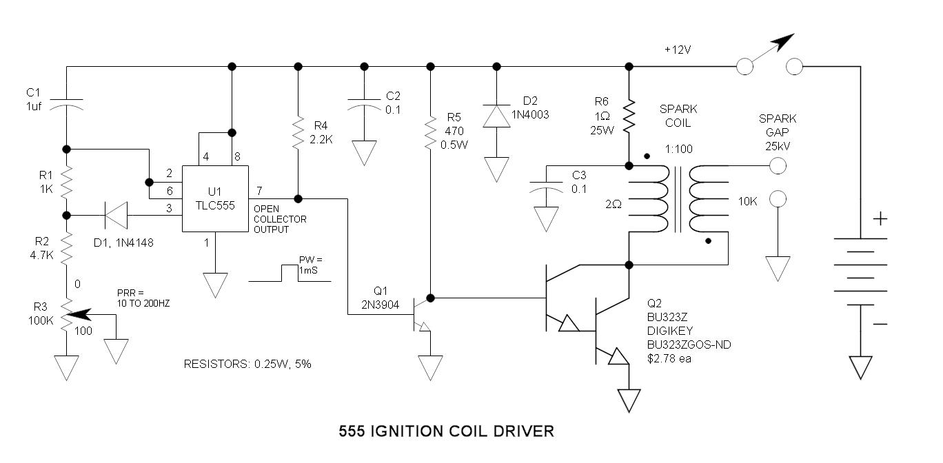 hight resolution of 555 ignition coil driver circuit igniter circuit diagram in addition fm transmitter circuit diagram