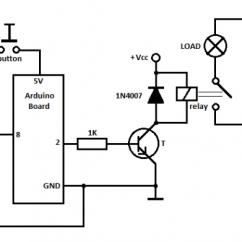 12 Volt Relay Wiring Diagram Symbols 3 Phase To Single Arduino Control - Tutorial #5