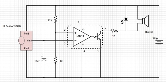 Infrared Beam Break Detector