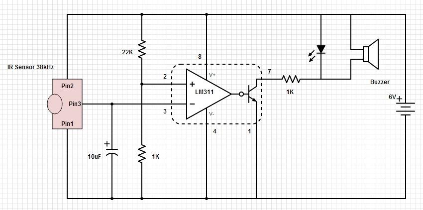 led strobe light circuit diagram wiring for four way switch infrared beam break detector