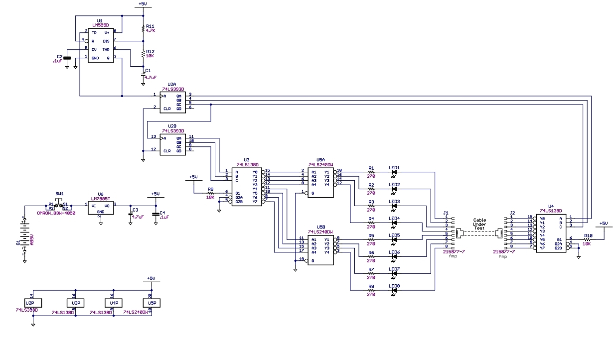 hight resolution of network cable tester circuitnetwork cable schematic 13