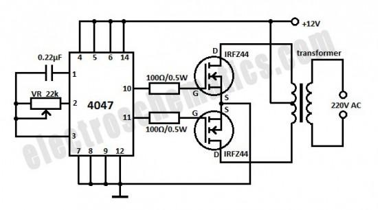 dc ac inverter circuit schematic diagram