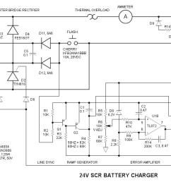schematic battery wiring library24v scr battery charger schematic [ 1248 x 660 Pixel ]