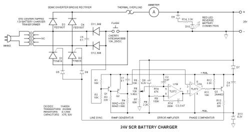 small resolution of 24v scr battery charger schematic