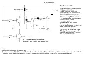 Fluorescent Light Driver Circuit and Project