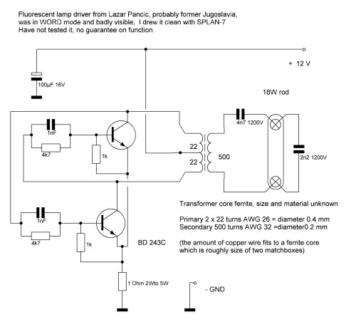 small resolution of this schematic is also used as lamp driver for scanners or some uv lighters it is very common