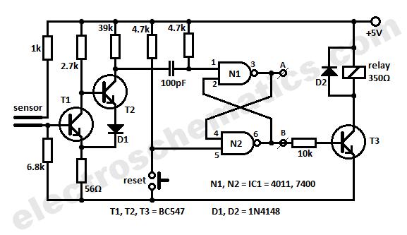 water sensor circuit connection