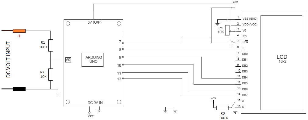 digital ac ammeter circuit diagram ps2 keyboard to usb wiring voltmeter schematic manual e books arduino 0v 12v 30v