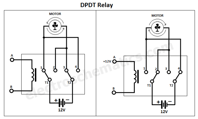 diagram 12 volt double pole double throw relay wiring