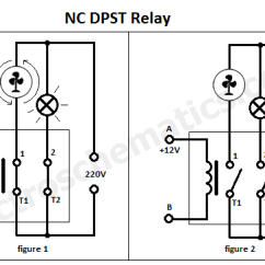 Relay Wiring Diagram 5 Pole Skeletal And Muscular System No Nc Great Installation Of Dpst Double Single Throw Rh Electroschematics Com