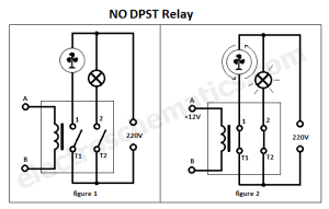 DPST Relay  Double Pole Single Throw