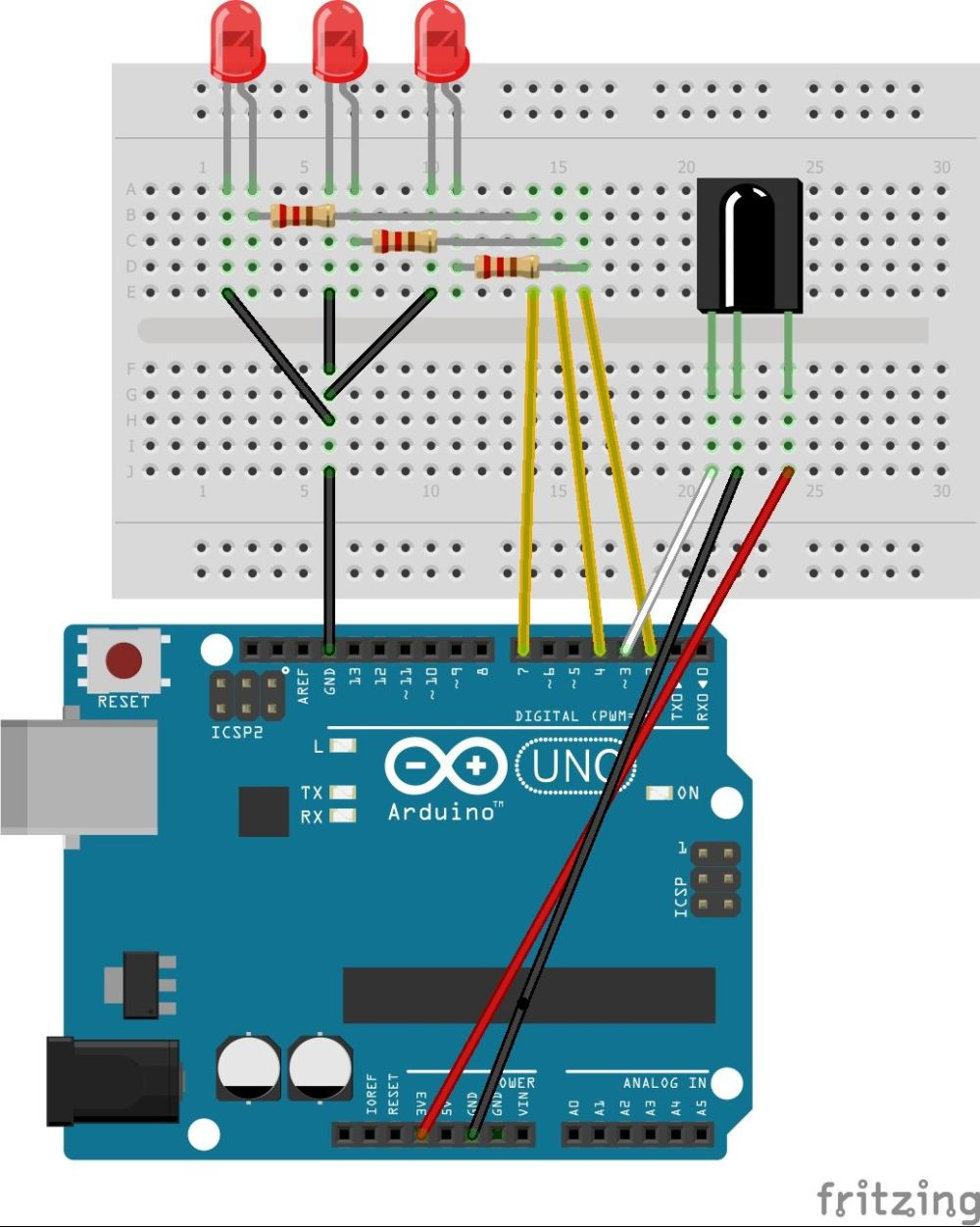 medium resolution of arduino led ir remote schematic