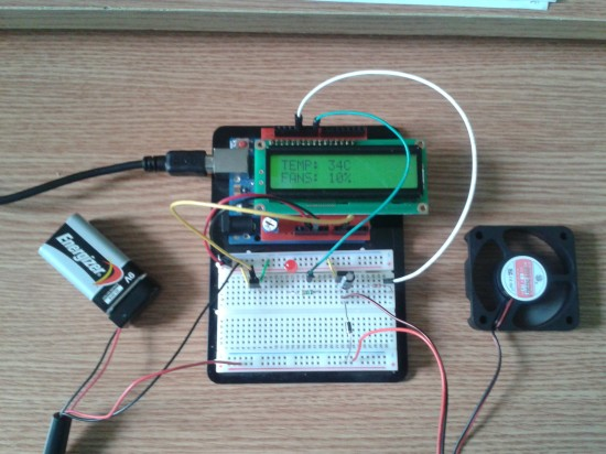 Arduino Fan Speed Controlled By Temperature