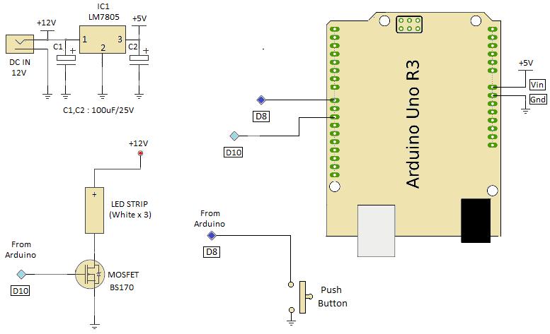 White Led Lamp Circuit Diagram Nonstopfree Electronic Circuits