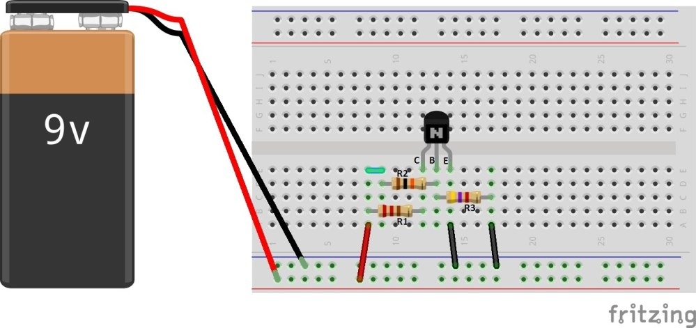 medium resolution of simple breadboard connection