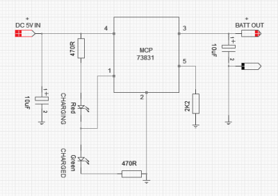 3.7V Li-Ion Battery Charger Circuit