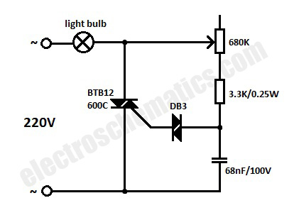 Light Dimmer Switch Circuit