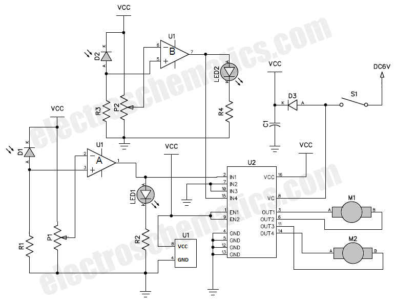 arduino motor driver with l293 schematic