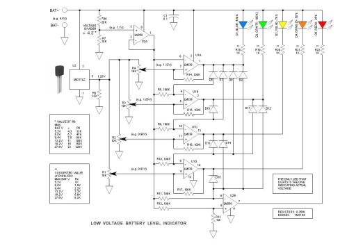 small resolution of low voltage battery level indicator circuit 1