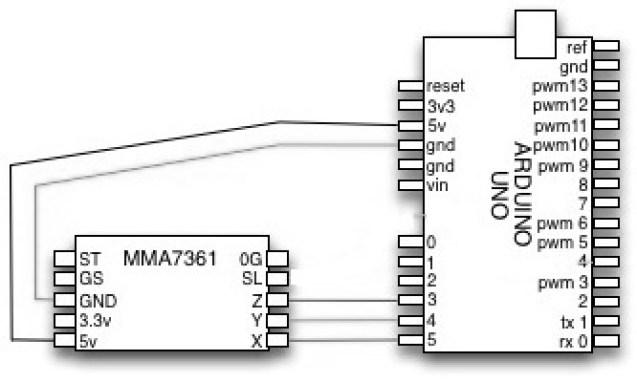 MMA7361LC arduino esquemática