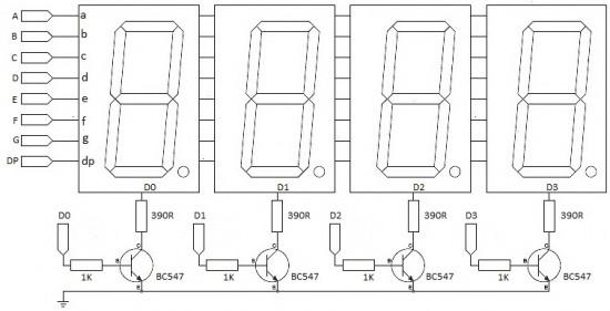 Arduino 4-Digit 7-segment LED Display