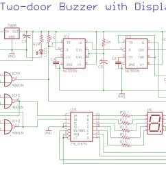 two door buzzer with display inner buzzer circuit diagram electronic bell circuit diagram using buzzer [ 2125 x 966 Pixel ]