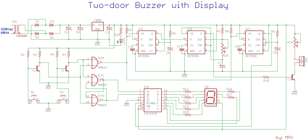 medium resolution of two door buzzer with display inner buzzer circuit diagram electronic bell circuit diagram using buzzer