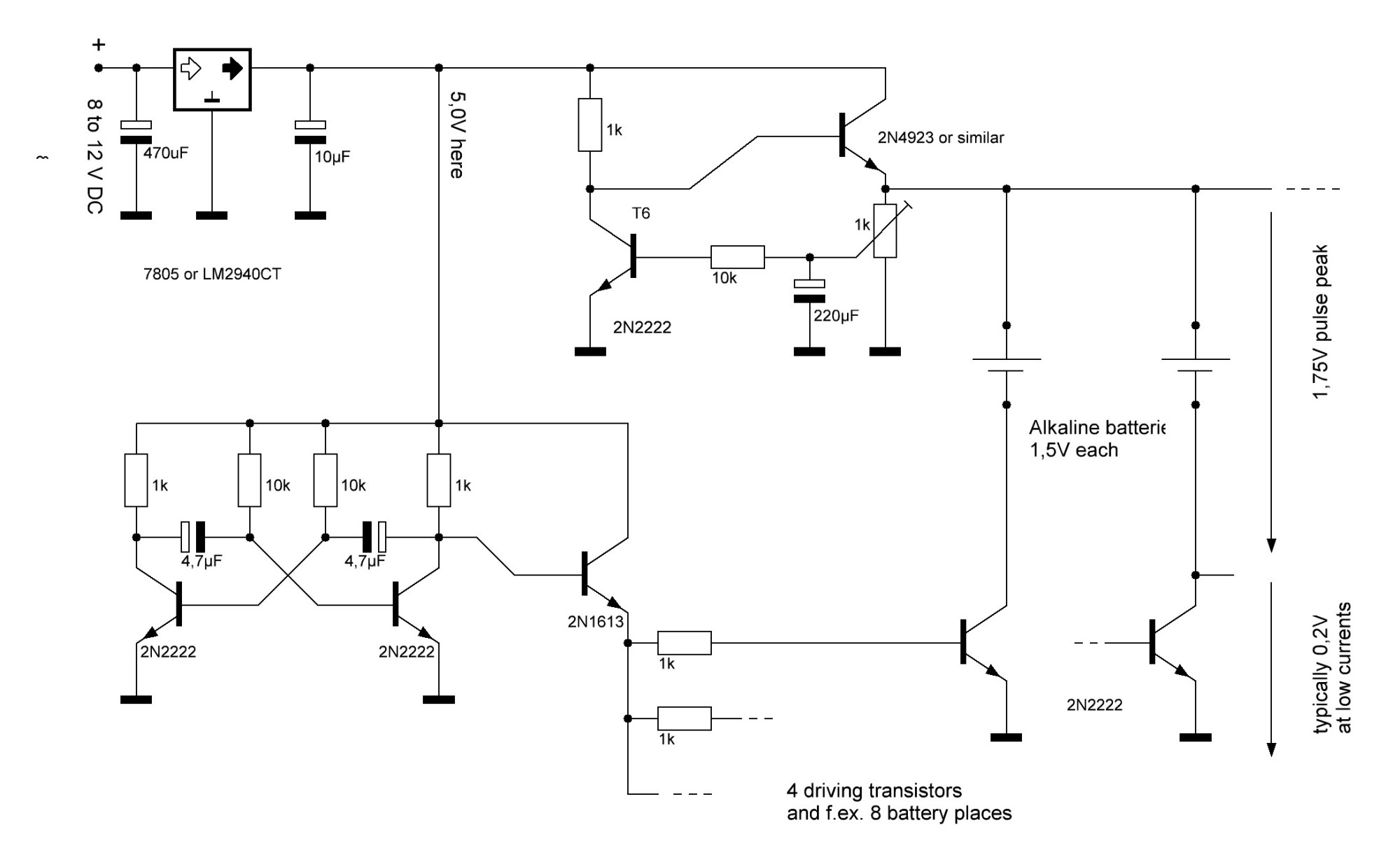 hight resolution of alkaline battery regenerator