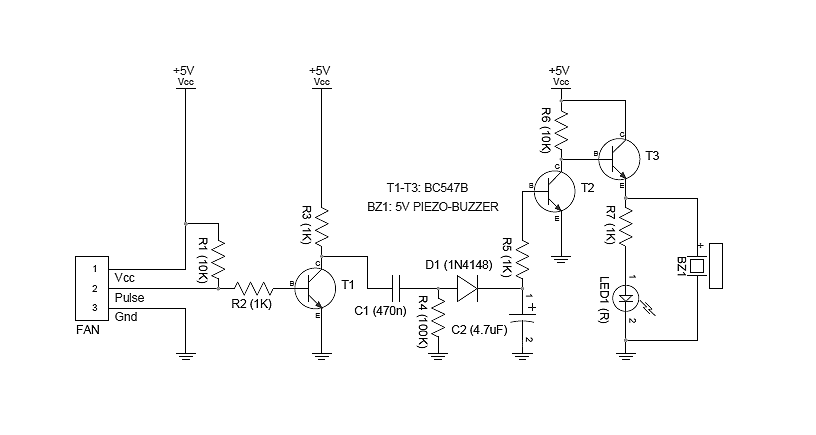 3 Wire Cooling Fan Monitor Circuit
