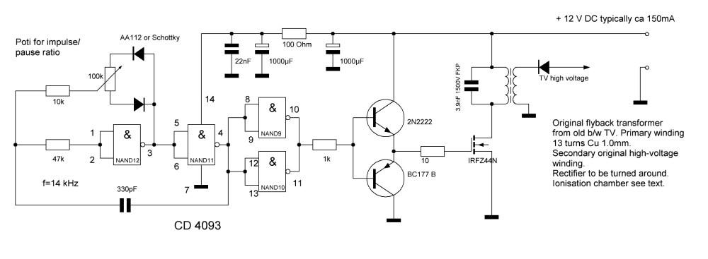medium resolution of ozone generator high power ionizer circuit ionizer transormer dc power supply wiring diagram