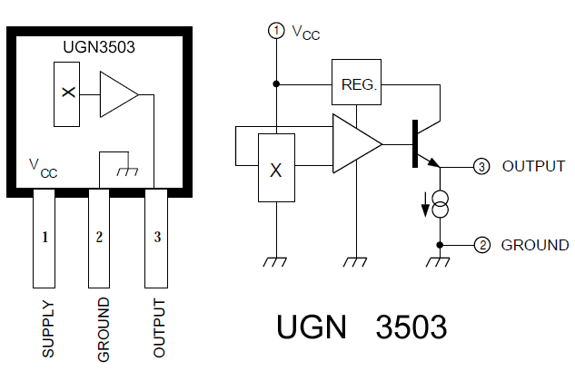 RPM Sensor Module For Robotics w/ UGN3503
