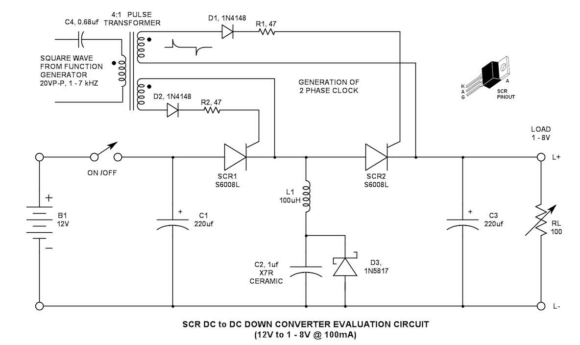 hight resolution of scr dc to dc converter evaluation circuit